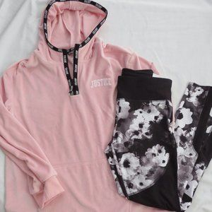 Justice Hoodie Legging Outfit
